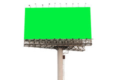 Sign billboard blank isolated. On white Royalty Free Stock Photography