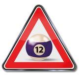 Sign billiard ball number 12 vector illustration
