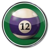 Sign with the billiard ball number 12 royalty free stock image