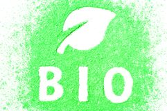 Sign BIO. Ecology organic concept Royalty Free Stock Photography