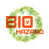 Sign biohazard. Bacteria in the circle. Vector illustration Stock Images