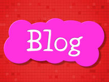 Sign Blog Shows Signboard Message And Blogging Royalty Free Stock Photography