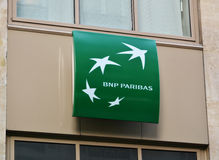 Sign of BNP Paribas Stock Photos