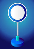 Sign board. An empty traffic sign board stock illustration