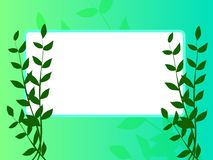 Sign board. Green banner and leaf designed by illustration Royalty Free Stock Photography
