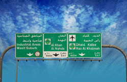 Sign Board Direction Stock Images
