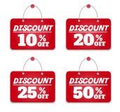 Sign board discount Stock Photos