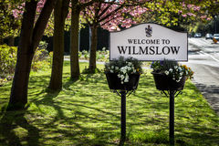Sign board Wilmslow Stock Image
