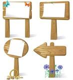 Sign board wood. Cartoon illustration of sign board wood Royalty Free Stock Image