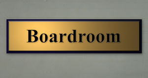 Sign for BOARDROOM. A 3d rendering of a wall sign for BOARDROOM Royalty Free Stock Photos