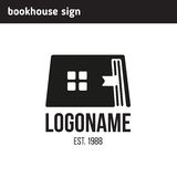 Sign the book in the form of home Stock Photos