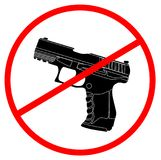 Sign with both handgun banned. Eps 10 Royalty Free Stock Images