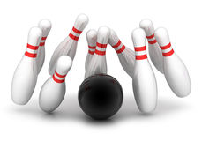 Sign bowling. Symbol of bowling on a white background Stock Photos