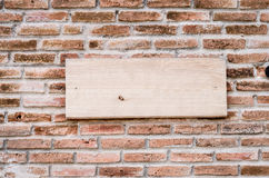 Sign brick Stock Photo