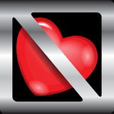 Sign Broken heart Stock Image