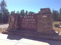 Sign. Bryce Canyon sign - USA trip Royalty Free Stock Photography