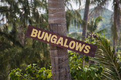 Sign for bungalows in Thailand Stock Photos