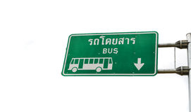 Sign bus Royalty Free Stock Photos