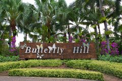Sign Butterfly Hill Royalty Free Stock Photo