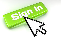 Sign In button Stock Image