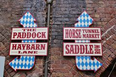 Sign at Camden Stables Market Royalty Free Stock Images