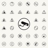 Sign camera icon. Warning signs icons universal set for web and mobile. On colored background royalty free illustration