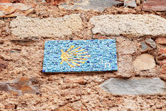 Sign of the Camino de Santiago Stock Photo