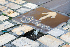 Sign of Camino de Santiago Royalty Free Stock Photography