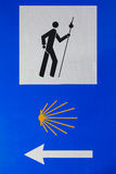 Sign of Camino de Santiago. Spain Royalty Free Stock Image