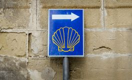 Sign of Camino de Santiago, Spain Royalty Free Stock Photography