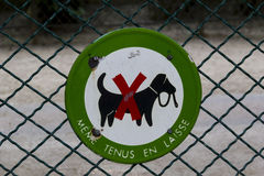 Sign canine discrimination Royalty Free Stock Photography