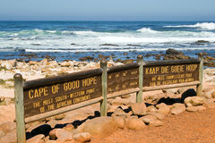 Sign of the Cape of Good Hope. Stock Photography