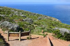 Sign, The Cape of Good Hope, Western Cape, South Africa royalty free stock photography