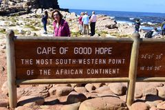 Sign at The Cape of Good Hope, Western Cape, South Africa stock photography