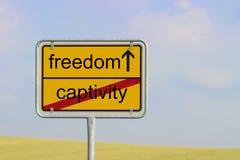 Sign captivity freedom Royalty Free Stock Photo