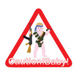 The sign on the car caution child Royalty Free Stock Photo