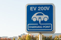 Sign, Car charging point. Royalty Free Stock Images