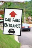 Sign car park entrance Royalty Free Stock Photo