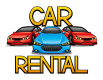 Sign of car rental. Sign of car rental on a white background Royalty Free Stock Image