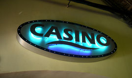 Sign for a casino Royalty Free Stock Photos