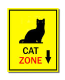 Sign of cat zone Royalty Free Stock Photos