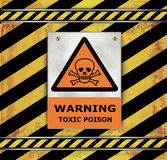 Sign caution blackboard warning toxic poison  Stock Photography