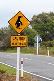 Sign caution pinguins Royalty Free Stock Photos
