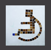 Sign ceramic of handicap Royalty Free Stock Image