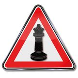 Sign chess and pawn queen. Sign chess game and pawn queen Stock Images