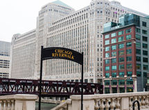 Sign for the Chicago Riverwalk Royalty Free Stock Images