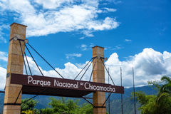 Sign for Chicamocha National park Stock Photography