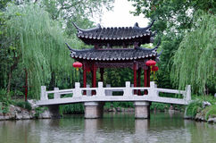 A sign of China landscape, classical bridges. Nanxiang located in Shanghai, China's ancient Yi Park, is a long history of private gardens, but also incorporates Stock Photos
