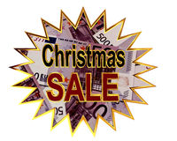 Sign for Christmas sale isolated on white background Royalty Free Stock Photo