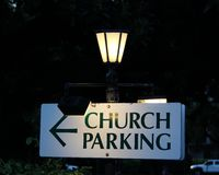 Sign Church Parking Royalty Free Stock Images